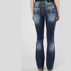 Miss Me Mid Rise Easy Boot Jeans E3313EBR